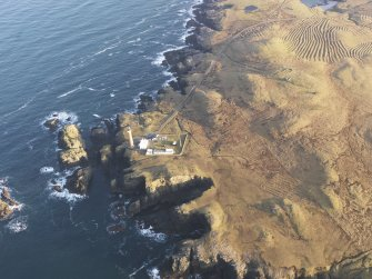 Oblique aerial view centred on the Butt of Lewis lighthouse, taken from the W.