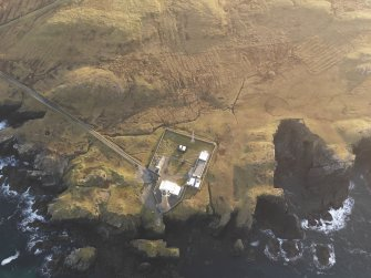 Oblique aerial view of the Butt of Lewis lighthouse, taken from the N.