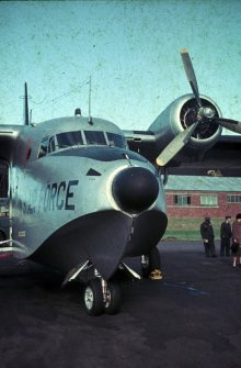 Probable location, Edinburgh Turnhouse Airport. Probable View of Albatross Seaplane US Air Force.