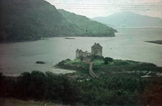 Eilean Donan Castle. View of castle from E.