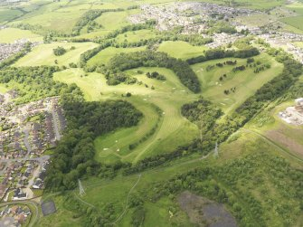 Oblique aerial view of Airdrie Golf Course, taken from the SE.