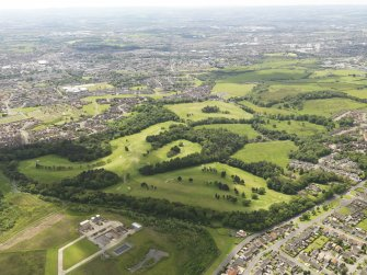 Oblique aerial view of Airdrie Golf Course, taken from the NE.