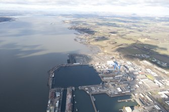 General oblique aerial view of HM Naval Base at Rosyth, taken from the SE.