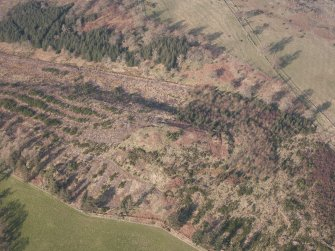 Oblique aerial view of Ogle Hill, looking NNE.