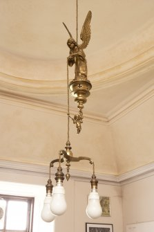 Interior. 1st floor, Lady Noble's bedroom (now used as sitting room), detail of light fitting