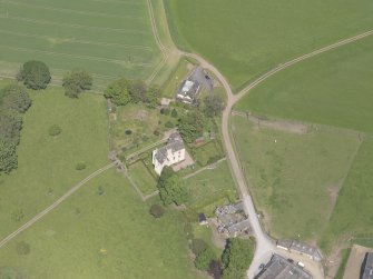 Oblique aerial view of Hatton Castle, taken from the SSW.
