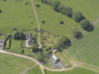 Oblique aerial view of Hatton Castle, taken from the E.