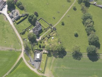 Oblique aerial view of Hatton Castle, taken from the NE.