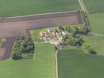 Oblique aerial view of Sydserf House, taken from the E.