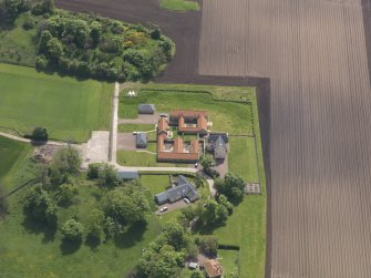 Oblique aerial view of Sydserf House, taken from the NNW.