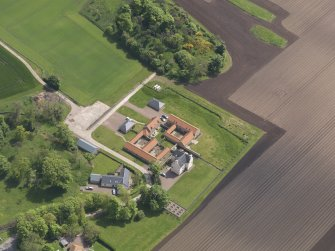 Oblique aerial view of Sydserf House, taken from the NW.