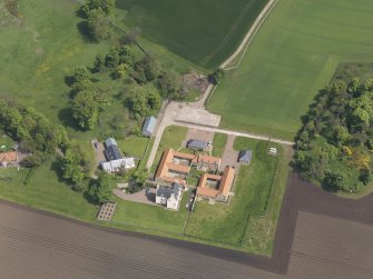 Oblique aerial view of Sydserf House, taken from the SW.