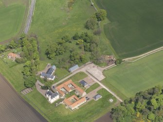 Oblique aerial view of Sydserf House, taken from the S.