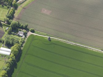 Oblique aerial view of Phantassie Dovecot, taken from the NE.