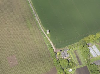 Oblique aerial view of Phantassie Dovecot, taken from the S.