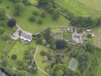 Oblique aerial view of Colquhalzie House, taken from the N.