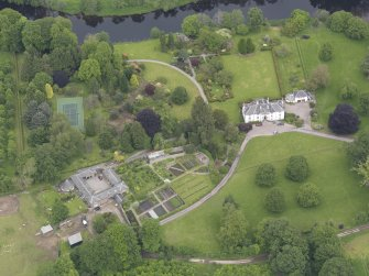 Oblique aerial view of Colquhalzie House, taken from the S.