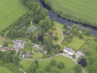 Oblique aerial view of Colquhalzie House, taken from the SSE.