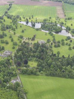 General oblique aerial view of Abercairny House, taken from the N.