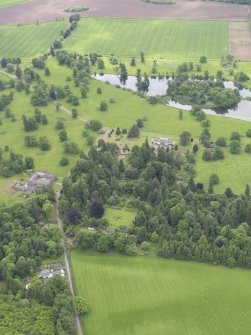 General oblique aerial view of Abercairny House, taken from the NNW.