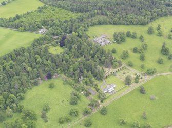 General oblique aerial view of Abercairny House, taken from the SW.