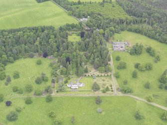 General oblique aerial view of Abercairny House, taken from the SSE.