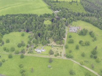 General oblique aerial view of Abercairny House, taken from the S.