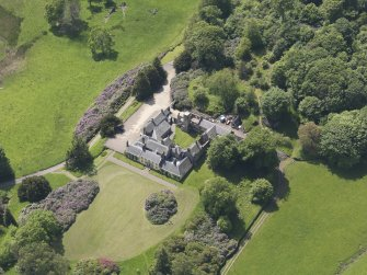 Oblique aerial view of Blair Adam Country House, taken from the NE.