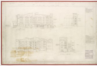 Elevations to rear,  Cannogate, Reids Court and Browns Court. Title: Block II Elevations