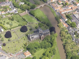 Oblique aerial view of St Mary's Parish Church, taken from the SSE.