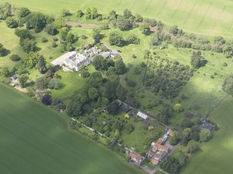 Oblique aerial view of Stevenson House, taken from the ESE.