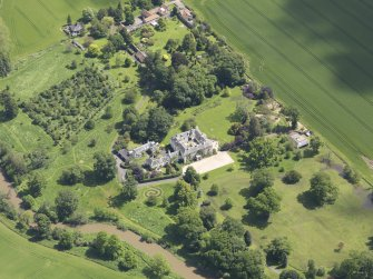 Oblique aerial view of Stevenson House, taken from the WNW.