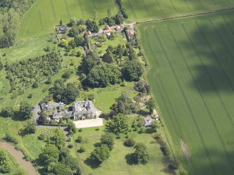 Oblique aerial view of Stevenson House, taken from the W.