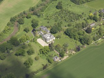 Oblique aerial view of Stevenson House, taken from the S.