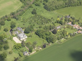 Oblique aerial view of Stevenson House, taken from the SSE.