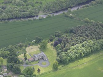 Oblique aerial view of Blanerne Castle, taken from the NNW.