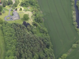 Oblique aerial view of Blanerne Castle, taken from the W.
