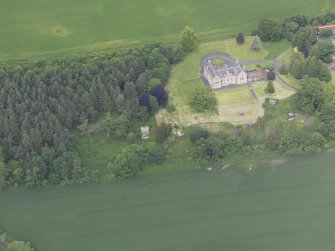 Oblique aerial view of Blanerne Castle, taken from the S.