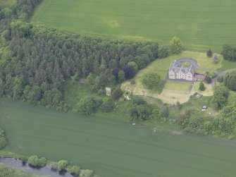 Oblique aerial view of Blanerne Castle, taken from the SSE.