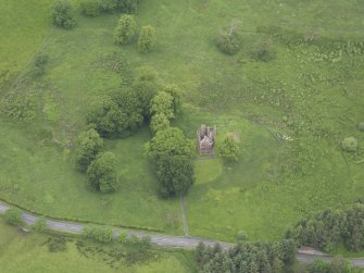 Oblique aerial view of Greenknowe Tower, taken from the S.