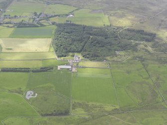 General oblique aerial  view of Sandside House, looking S.