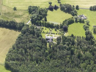 Oblique aerial view of Auchleeks House, taken from the NNE.