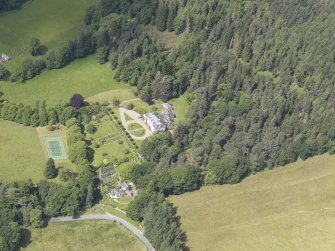 Oblique aerial view of Auchleeks House, taken from the ESE.