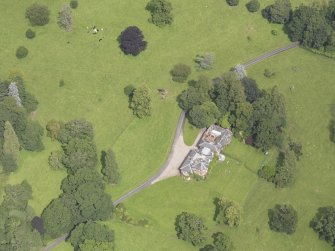 Oblique aerial view of Keithick House, taken from the SW.