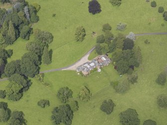Oblique aerial view of Keithick House, taken from the S.