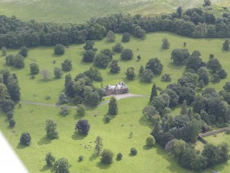 Oblique aerial view of Keithick House, taken from the N.