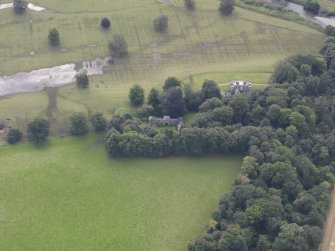 Oblique aerial view of Chesters House, taken from the NNW.