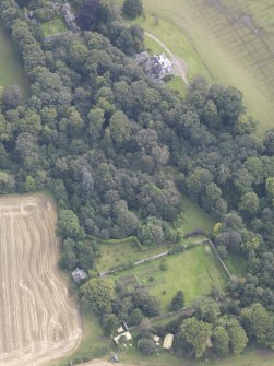 Oblique aerial view of Chesters House, taken from the W.