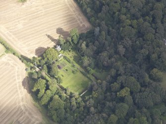 Oblique aerial view of Chesters House, taken from the S.