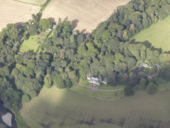 Oblique aerial view of Chesters House, taken from the SE.